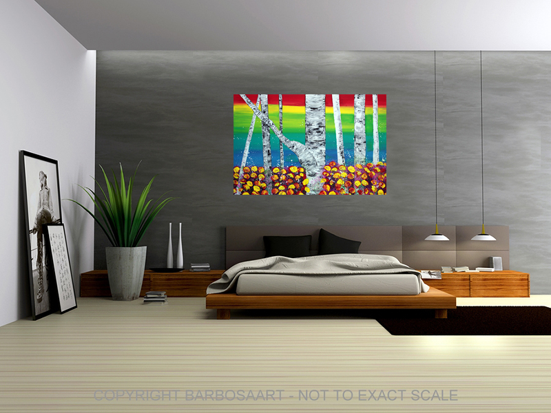 Rainbow Forest by Laura Barbosa - modern wall art