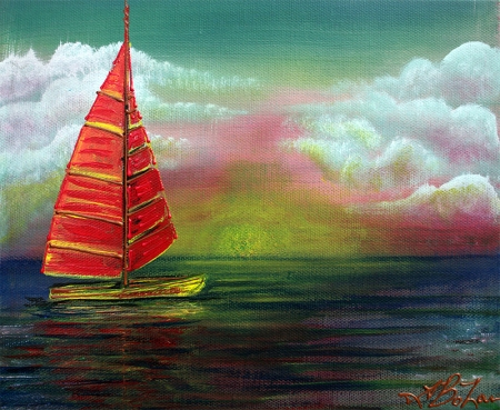 Sail The Horizon by Laura Barbosa - display