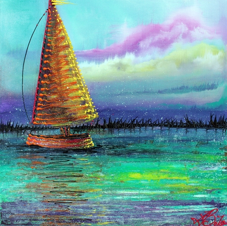 Sailboat Cruise by Laura Barbosa - display
