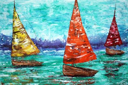 Sailboat Dreams by Laura Barbosa - display