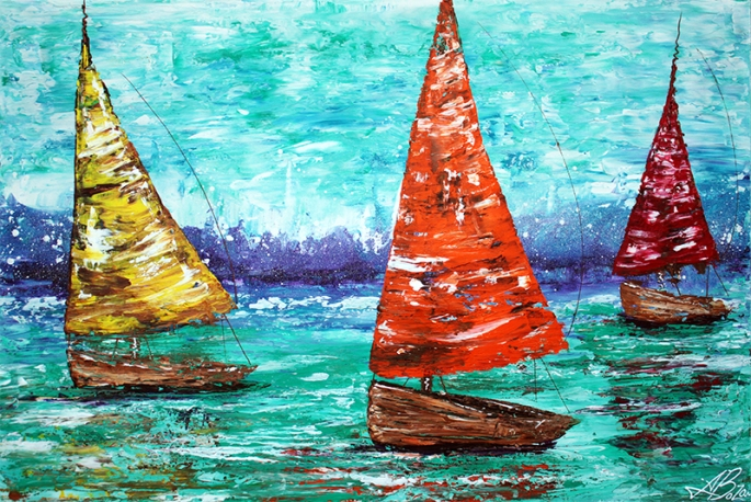Sailboat Dreams by Laura Barbosa - display