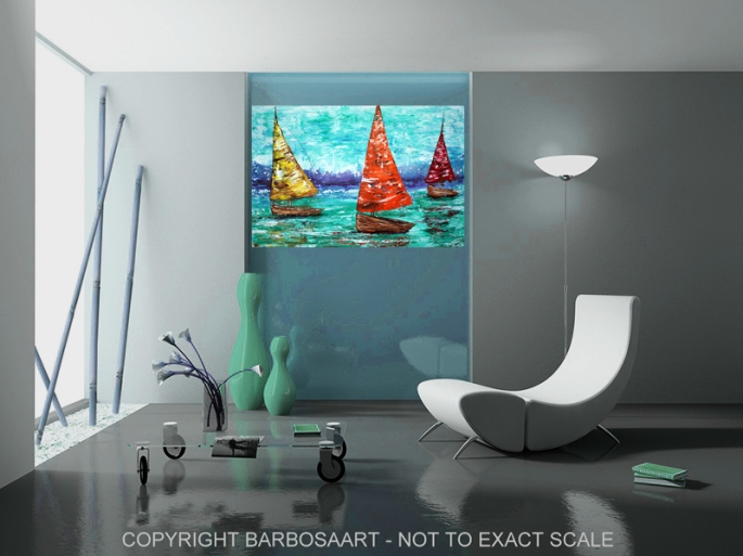 Sailboat Dreams by Laura Barbosa - ocean art