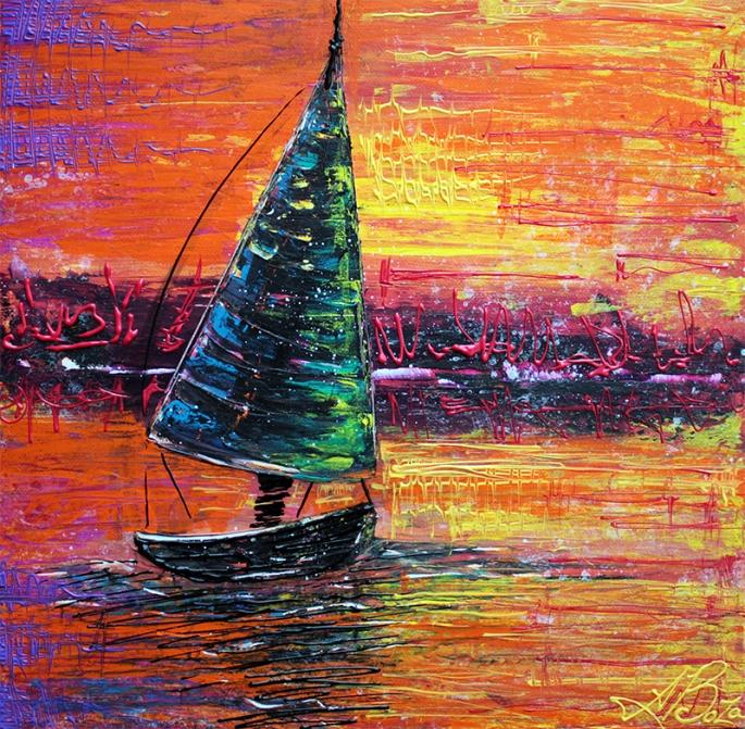 Sailing at Sunset by Laura Barbosa - display