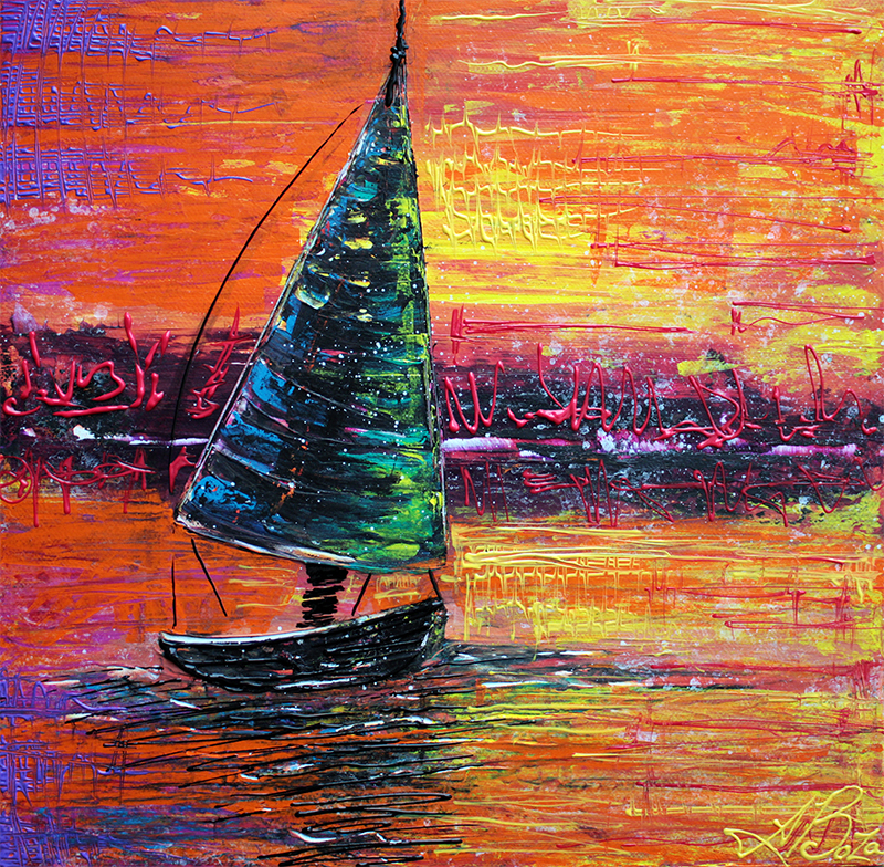 Sailing at Sunset by Laura Barbosa - display
