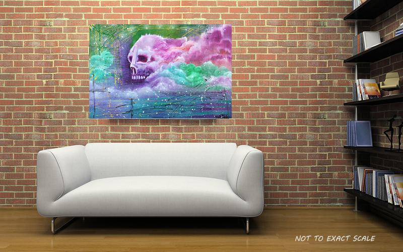 Skull Cloud by Laura Barbosa - Graffiti