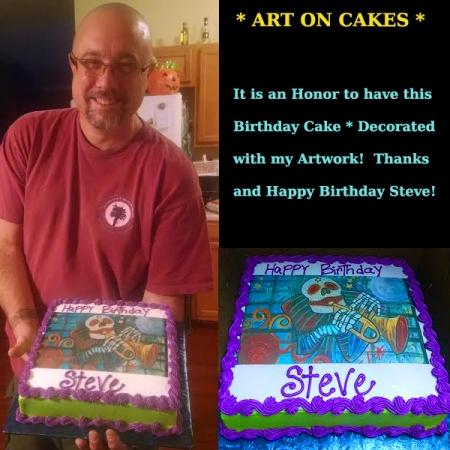 birthday cake art