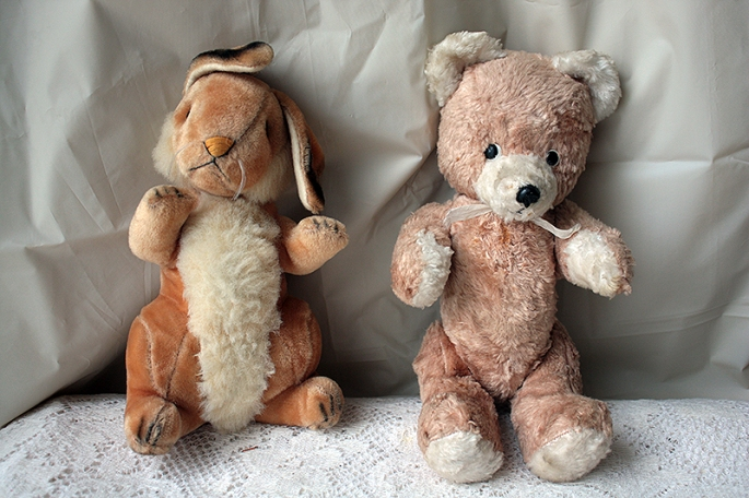 vintage bear n rabbit