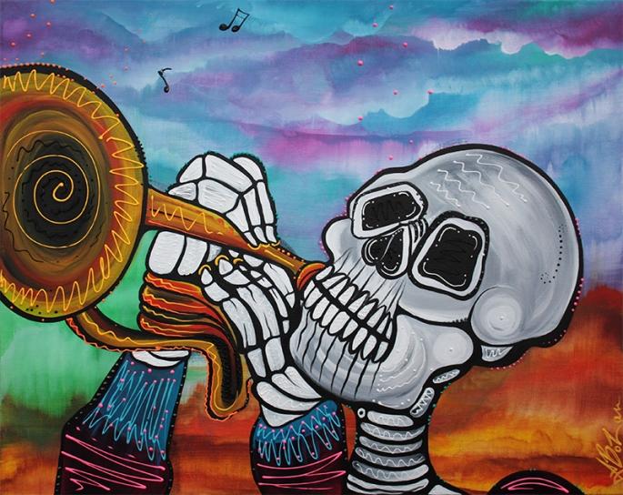 Skeleton Serenade by Laura Barbosa - display