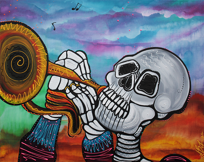 Skeleton Serenade by Laura Barbosa - display