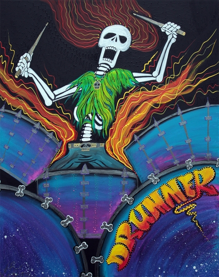 Drummer Of The Dead by Laura Barbosa - display