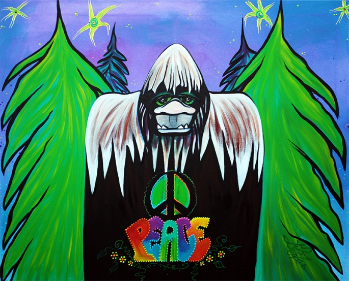 Bigfoot Peace by Laura Barbosa - display