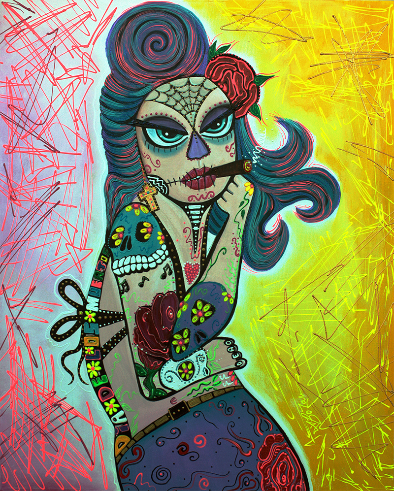 Maria De Los Muertos 2 by Laura Barbosa - display