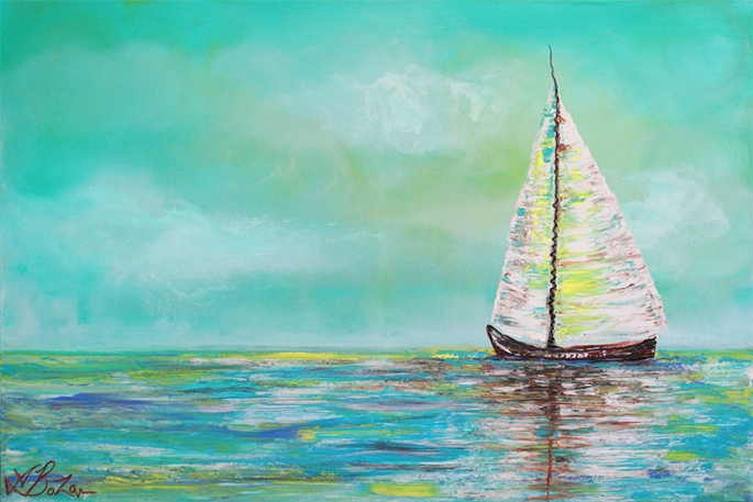 Alone At Sea by Laura Barbosa - display