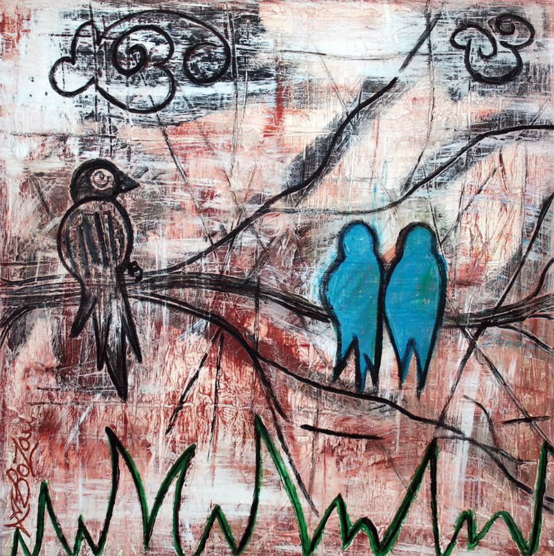 Birds In The Bush by Laura Barbosa - display