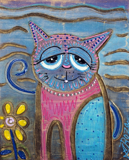 Color Me Cat by Laura Barbosa - display