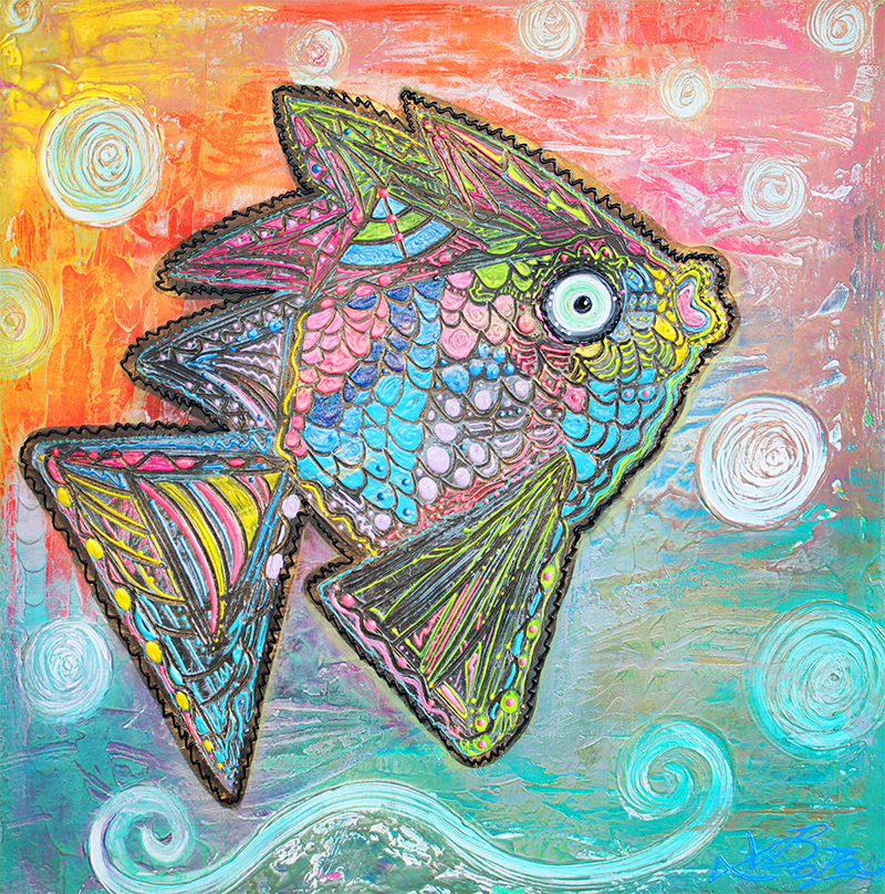 Psychedelic Fish by Laura Barbosa - display