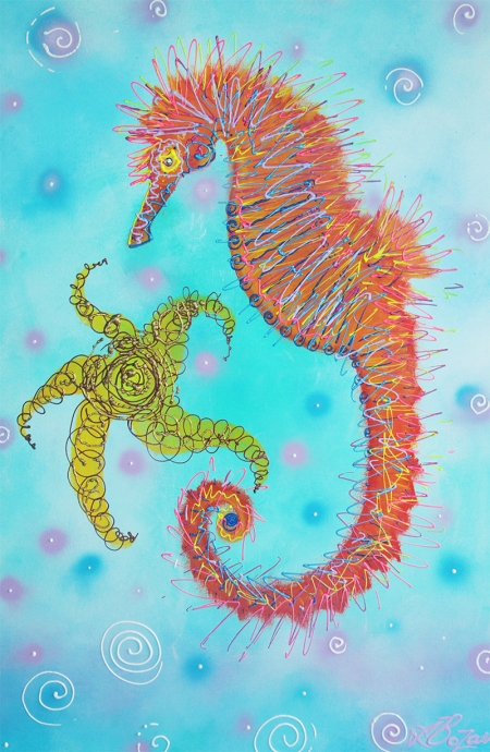 Sassy Seahorse by Laura Barbosa - display