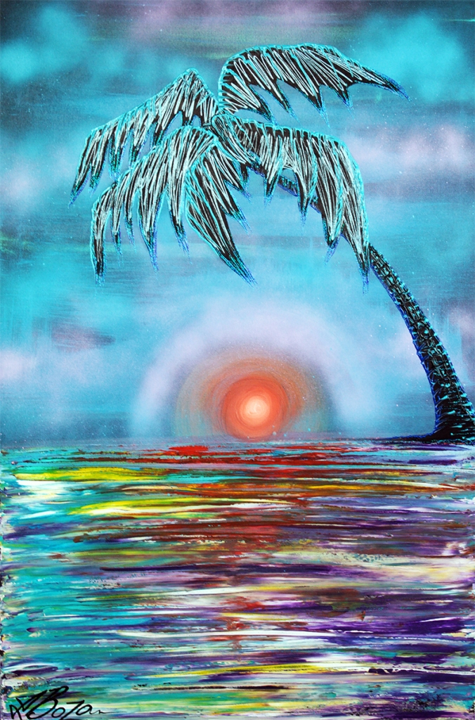 Tropical Sunset by Laura Barbosa - display