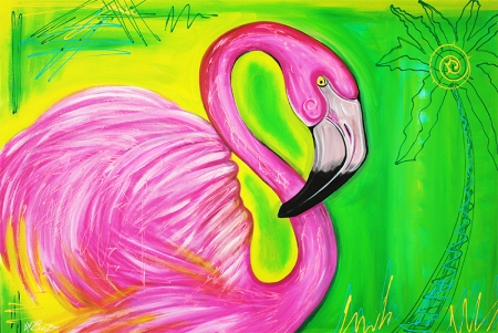 Electric Flamingo by Laura Barbosa - display