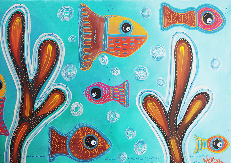 Quilted Fish by Laura Barbosa - display