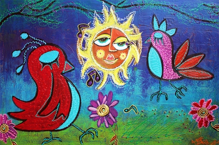 Sun Birds by Laura Barbosa - display