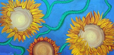 Sunflowers by Laura Barbosa - display