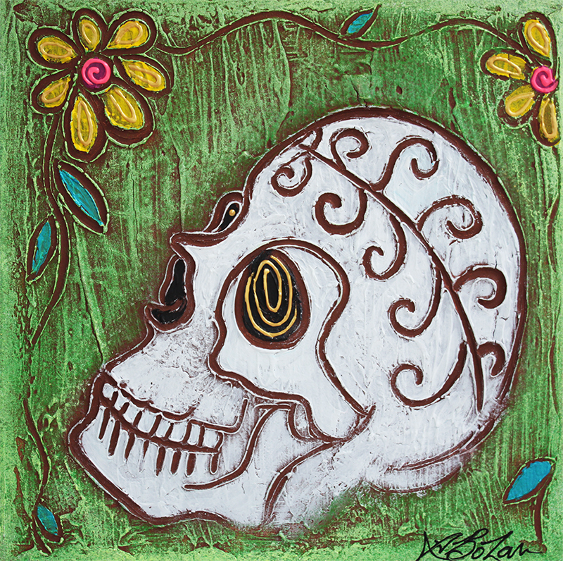 Tribal Skull by Laura Barbosa - display