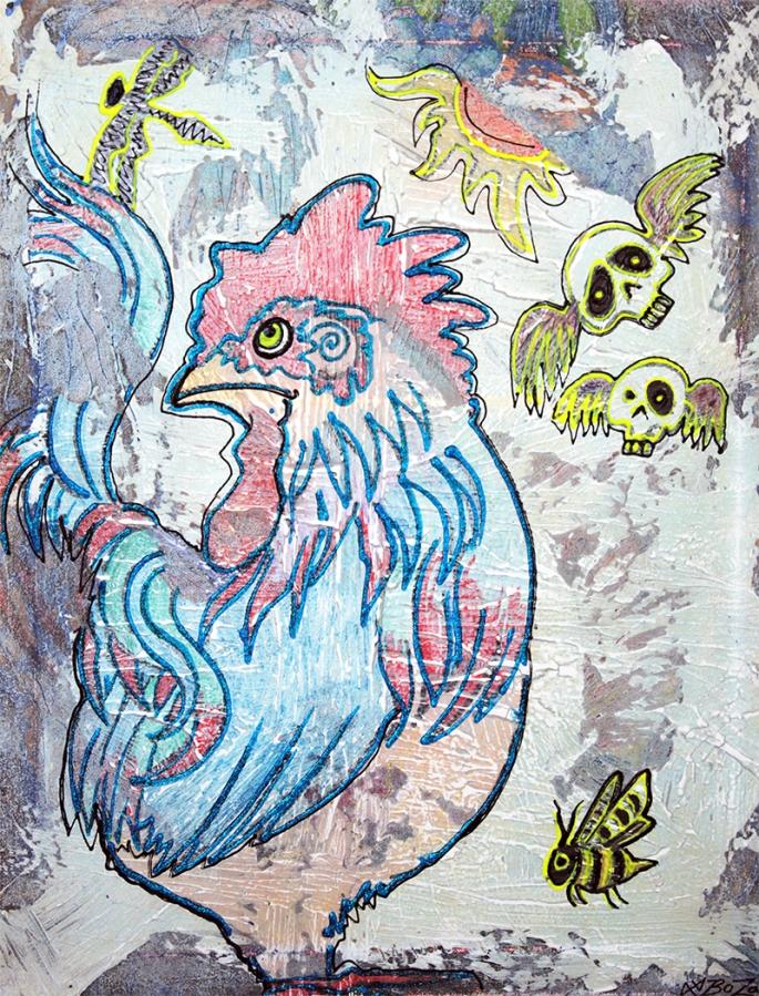 Rooster Road by Laura Barbosa - display