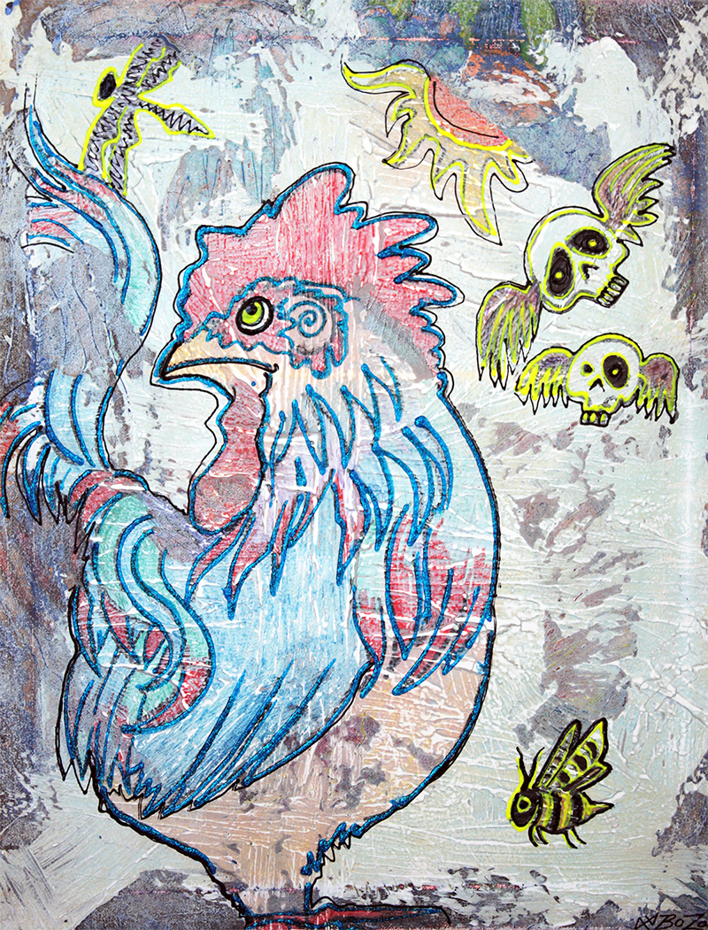 Rooster Road by Laura Barbosa - display