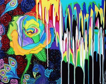 Rainbow Rose by Laura Barbosa - display