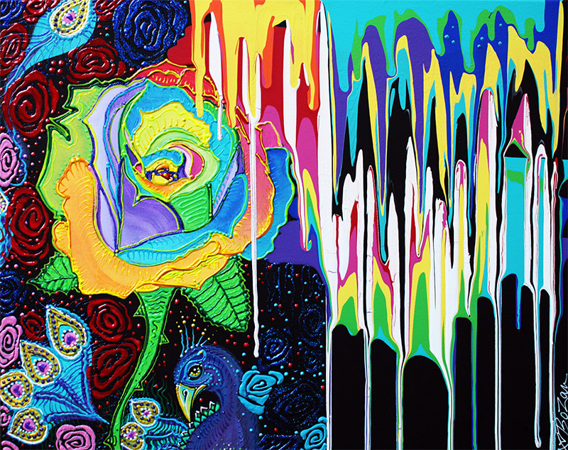 Rainbow Rose by Laura Barbosa - display