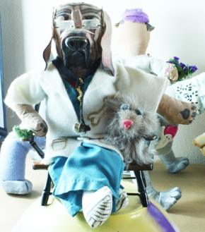 Bloodhound vet front