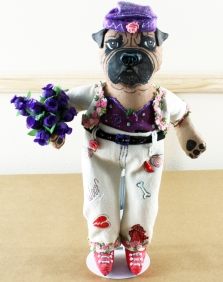Bullmastiff lady doll 2018 - front